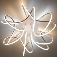 Потолочный светодиодный светильник с пультом ДУ LUMINARIA LIANA MUSE 80W R 600 WHITE/OPAL 220V IP20