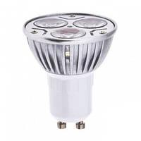 Светодиодные лампы с цоколем gu10 Oasisled 220v 3Вт(=25вт) холодный свет