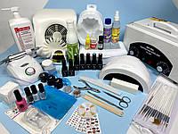 """Стартовый набор для маникюра, наращивания и покрытия гель-лаком """" Level 80 """" - Kodi Professional"""