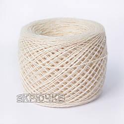 Полушерстяная пряжа для ручного вязания Ярослав, цвет бежевый