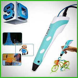 3D ручка c LCD дисплеем Pen 2 3Д принтер для рисования СИНЯЯ