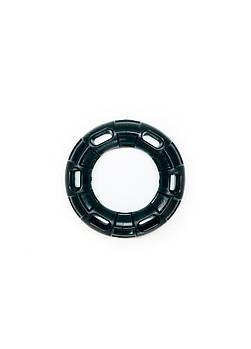 Игрушка для собак FOX кольцо с 6 сторонами черная, 12 см (с запахом ванили)