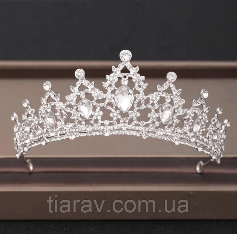 Корона свадебная на голову диадема МАРИАННА Тиара диадемы