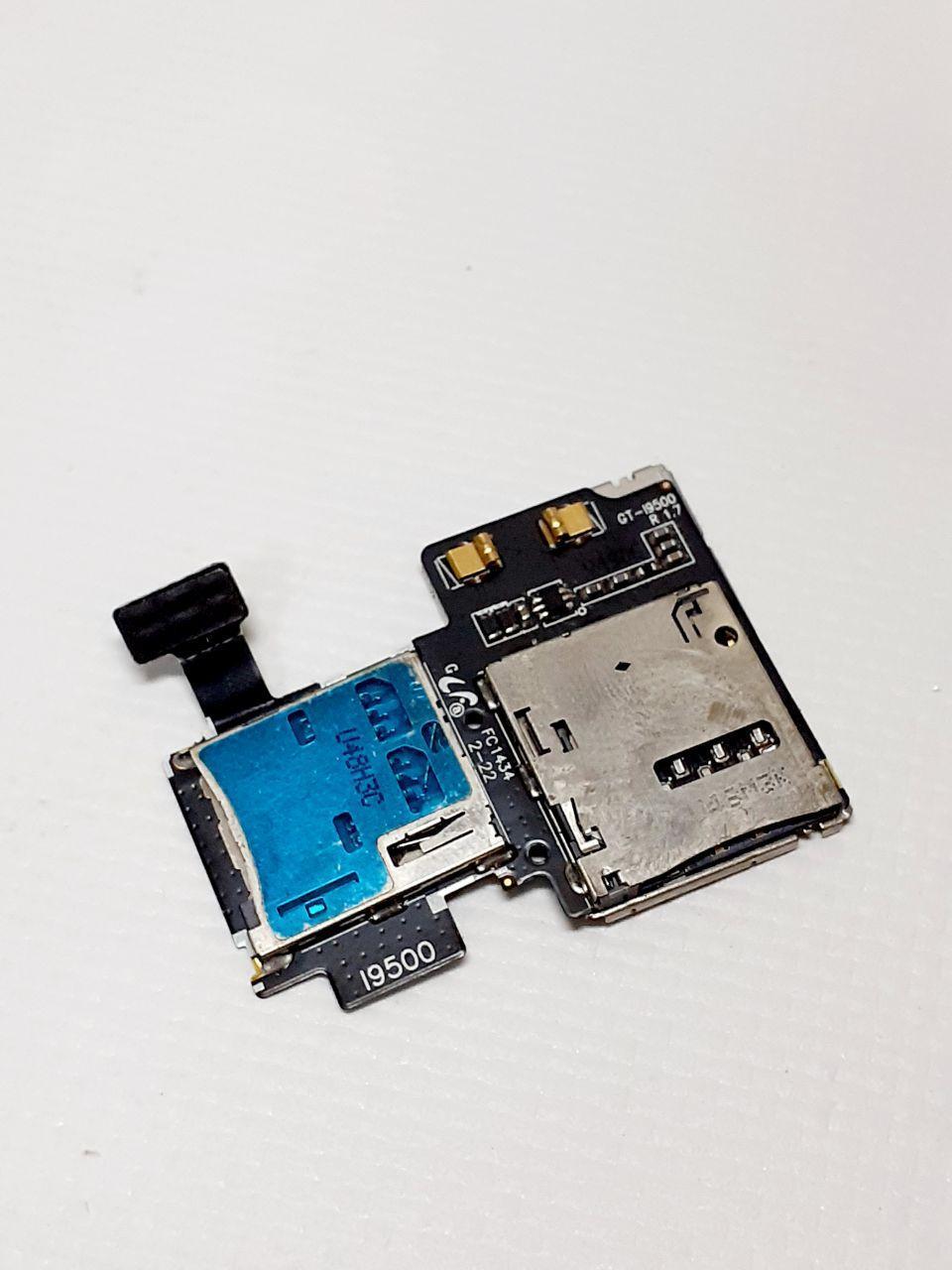 Коннектор SIM-карты для Samsung I9505, I9500, Galaxy S4 оригинал б.у.