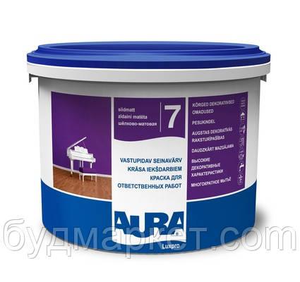Краска AURA Luxpro 7 интерьерная акрилатная дисперсионная (шелково-матовая) (база TR -под колеровку), 2,25 л
