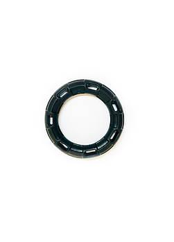 Игрушка для собак FOX кольцо с 6 сторонами черная, 15 см (с запахом ванили)