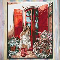 """Картины по номерам, Идейка, без коробки - Дети """"Маленькая принцесса"""" 40*50 см"""