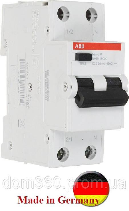 """Дифференциальный автоматический выключатель ABB Basic BMR415C20 ТМ""""ABB"""" (Германия)"""