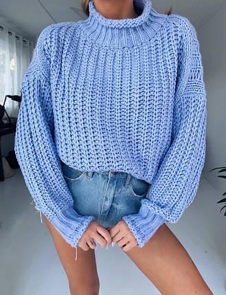 Стильный женский объемный свитер крупной вязки 42-48 р, фото 2