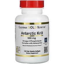 "Масло кріля з астаксантином California GOLD Nutrition ""Antarctic Krill with Astaxanthin"" 500 мг (120 капсул)"