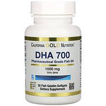 """Рыбий жир California GOLD Nutrition """"DHA 700"""" 1000 мг (30 желатиновых таблеток)"""