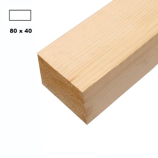 Брус дерев'яний строганий 80*40мм