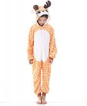 Детская пижама кигуруми Олененок 140 см