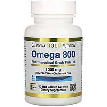 "Рыбий жир California GOLD Nutrition ""Omega 800"" 1000 мг (30 капсул)"