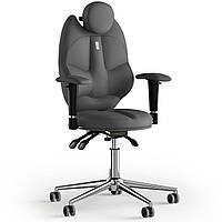 Кресло KULIK SYSTEM TRIO Экокожа с подголовником без строчки Серый 14-901-BS-MC-0206, КОД: 1676908