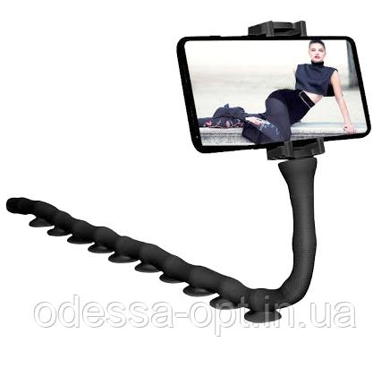 Держатель для телефона гибкий универсальный с присосками Cute Worm Lazy Holder, фото 2