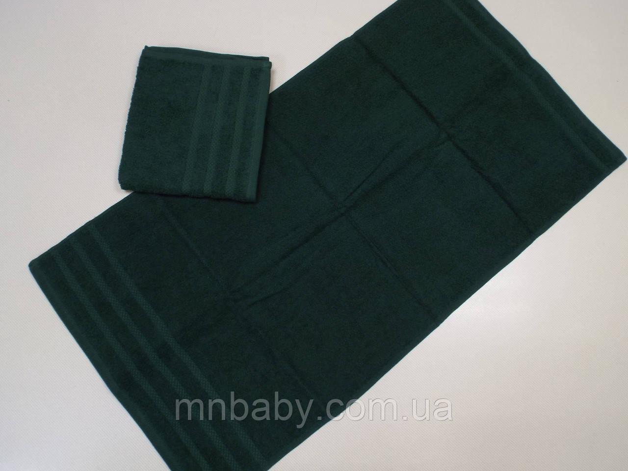 Полотенце махровое 50*90 см зеленое