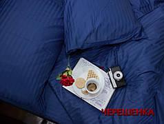 Полуторный набор постельного белья 150*220 из Страйп Сатина №50777 Черешенка™