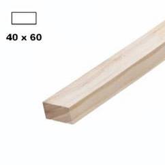 Рейка дерев'яна строгана 20*40мм