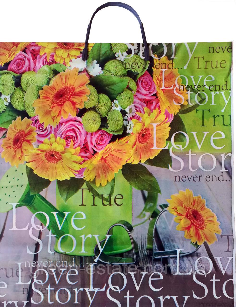 Пакет с пластиковой ручкой Love Story