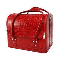 Сумка-чемодан визажиста и мастера маникюра, цвет красный