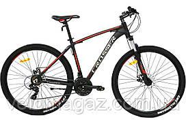 """Велосипед алюминиевый Crosser Inspiron 29"""" рама 19"""" черно-красный, горный"""