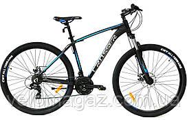 """Велосипед алюминиевый Crosser Inspiron 29"""", рама 19"""" черно-синий, горный"""
