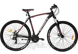 """Велосипед алюминиевый Crosser Inspiron рама 22"""", колеса 29"""" черно-красный горный"""