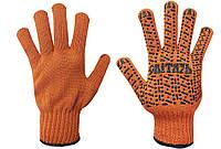 Перчатки рабочие трикотажные ХБ с ПВХ 7 класс