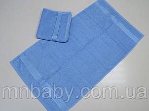 Полотенце махровое 50*90 см голубое