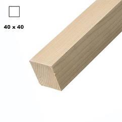 Брус дерев'яна яний строганий 40*40мм