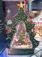 """Новорічний декор лампа - """"Ялинка"""" зі снігом"""