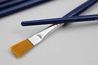Кисть художественная плоская 7 мм, синтетический ворс