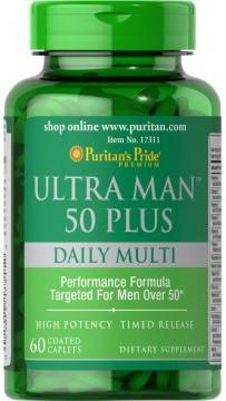 Витамины для мужчин Puritan's Pride - Ultra Man 50 Plus Daily Multi (60 капсул)
