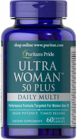 Витамины для женщин Puritan's Pride - Ultra Woman 50 Plus Daily Multi (60 капсул)