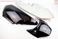 Honda LEAD AF-48 пластик - верхний боковой лев+прав+соединитель к-кт 3шт, ЧЕРНЫЙ