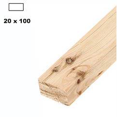 Брус дерев'яна яний строганий 20*100мм