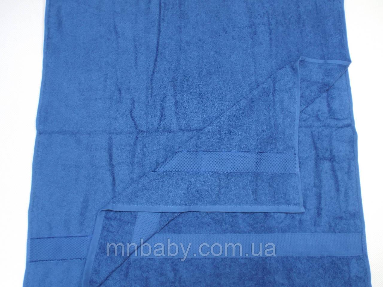 Полотенце махровое 70*140 см джинс