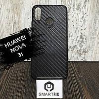 Карбоновый чехол для Huawei Nova 3i (INE-LX1) Черный, фото 1