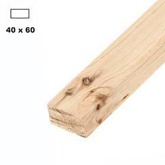 Брус дерев'яна яний строганий 40*60мм