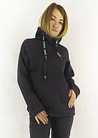 Женская худи черного цвета с капюшоном на каждый день S, M, L, фото 1