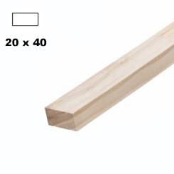 Брус дерев'яний строганий 40*20мм