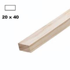 Брус дерев'яна яний строганий 40*20мм