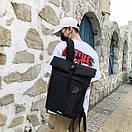 Брендовые спортивные рюкзаки Adidas вместительный черный городской школьный, фото 3