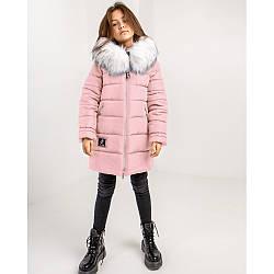 Дитяча зимова куртка з хутряним оздобленням
