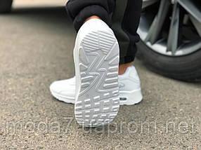 Кроссовки мужские белые Nike Air Max 90 кожа реплика, фото 2