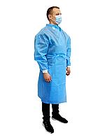 Халат медицинский (защитный) на завязках (размер 48-52 (L)) (спанбонд – 50 г / м2) не стерильный (шт.), фото 1
