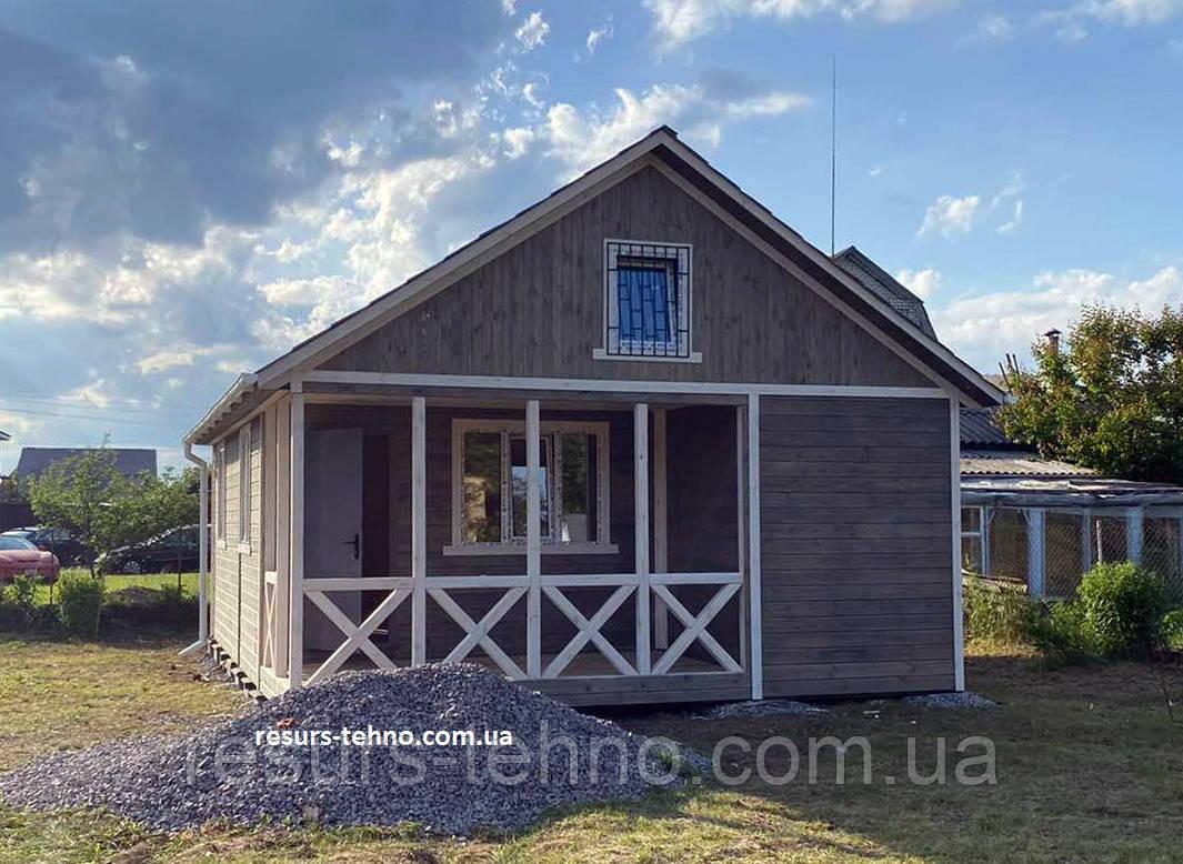 Дачный домик  деревянный  8м х 6м с террассой