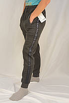 Брюки спортивные мужские зимние под манжет Штаны спортивные утепленные You and me XL, Черный, фото 2