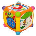 Музыкальная игра Hola Toys 936 Волшебный кубик, сортер, пищалка, трещетка, фото 2